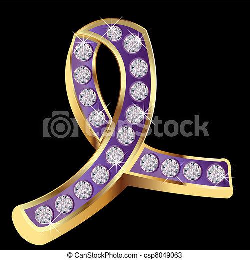 Domestic Violence Awareness Purple Ribbon
