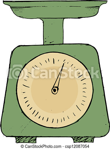 Hand Drawn Vector Sketch Illustration Of Domestic Weigh