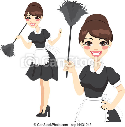 domestica, casalinga, spolveratore - csp14431243