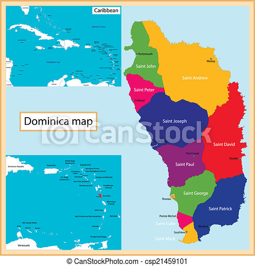Dominica Map on