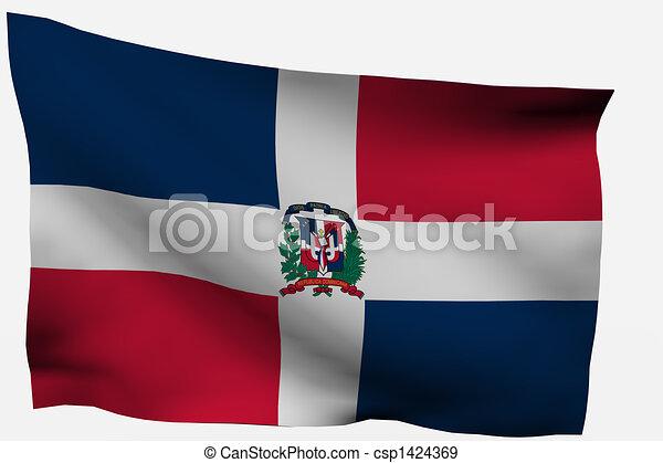 Dominican Republic 3d flag - csp1424369