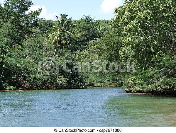 Dominican Republic waterside scenery - csp7671888