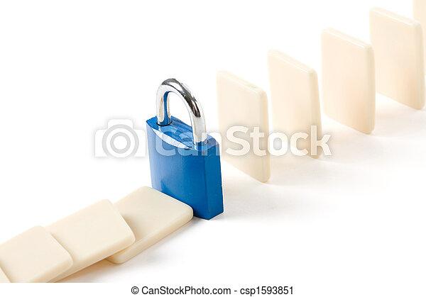 Domino and Lock - csp1593851