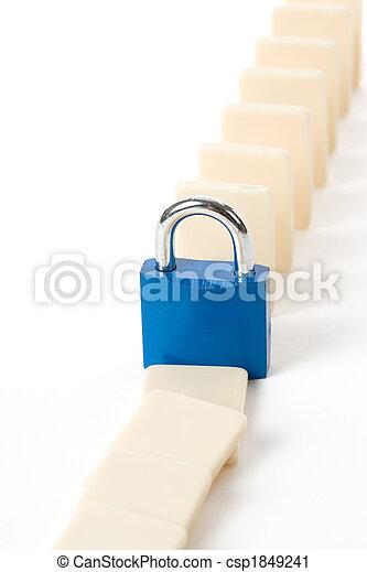 Domino and Lock - csp1849241