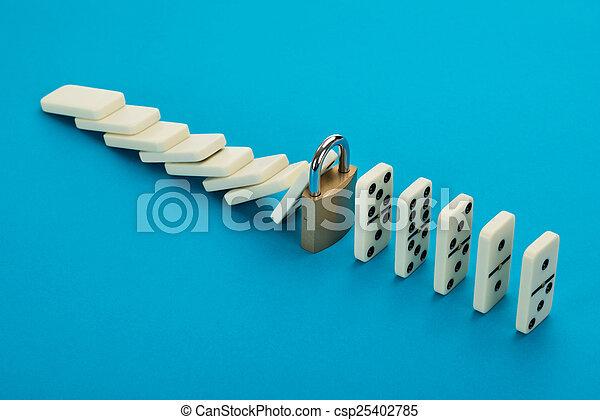 Domino And Lock - csp25402785