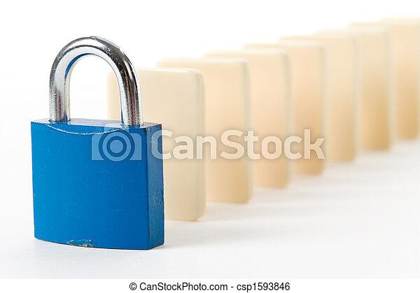 Domino and Lock - csp1593846