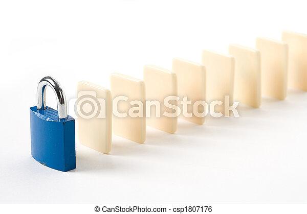 Domino and Lock - csp1807176