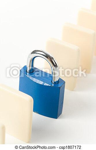 Domino and Lock - csp1807172