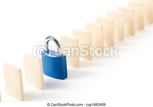 Domino and Lock - csp1663459