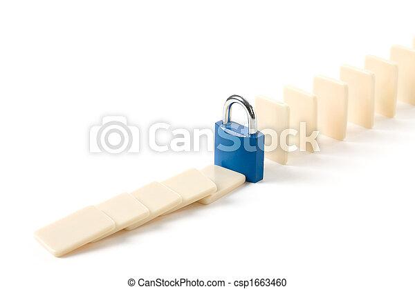 Domino and Lock - csp1663460
