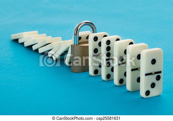 Domino And Lock - csp25581631