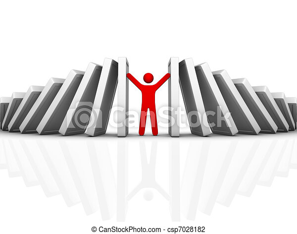 Line Art Effect Photo : Domino effect and problem solving clip art search illustration