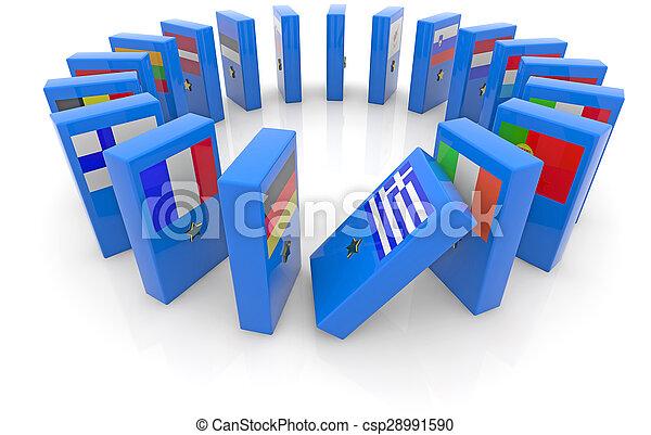 domino effect - csp28991590