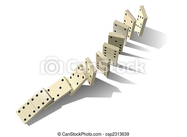 Domino principle. Vector illustration - csp2313639
