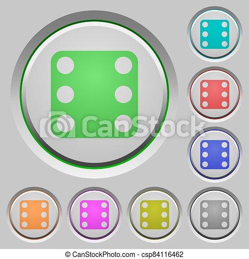 Domino six push buttons - csp84116462