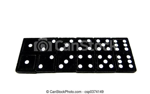 Domino tiles 1, 2, 3, 4, 5, 6 - csp0374149