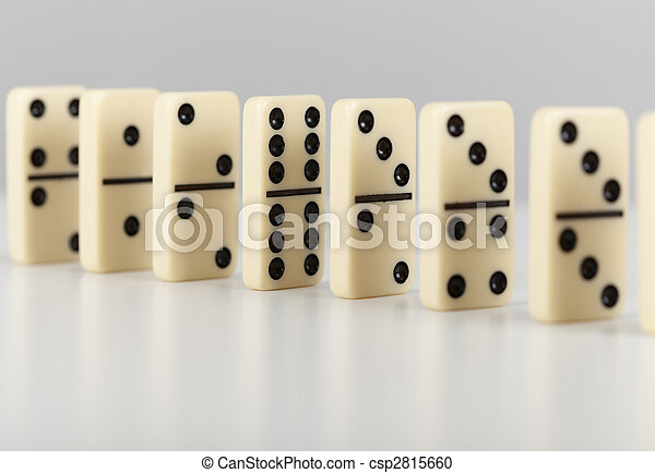 Dominoes line up - csp2815660