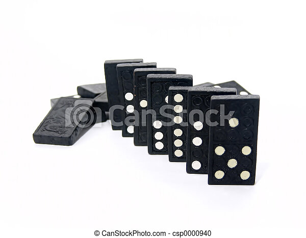 Dominoes Lined Up - csp0000940