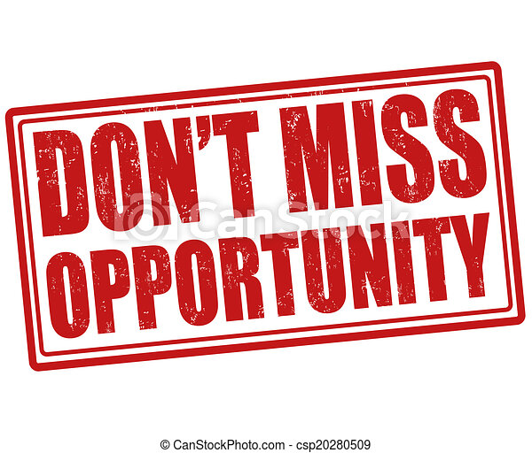 don t miss opportunity stamp don t miss opportunity grunge rh canstockphoto com Don't Miss It Clip Art Don't Miss This Jet