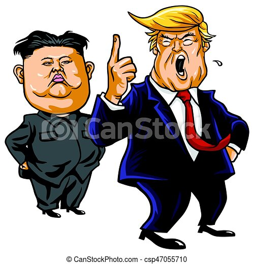 Image of: Png Donald Trump With Kim Jongun Cartoon Vector April 26 2017 Csp47055710 Middle East Eye Donald Trump With Kim Jongun Cartoon Vector April 26 2017 Donald