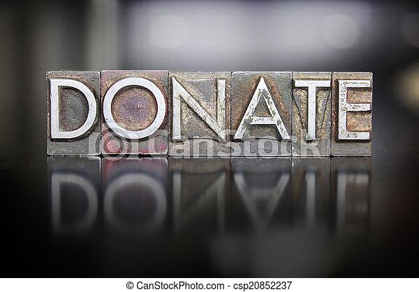 donare, letterpress - csp20852237