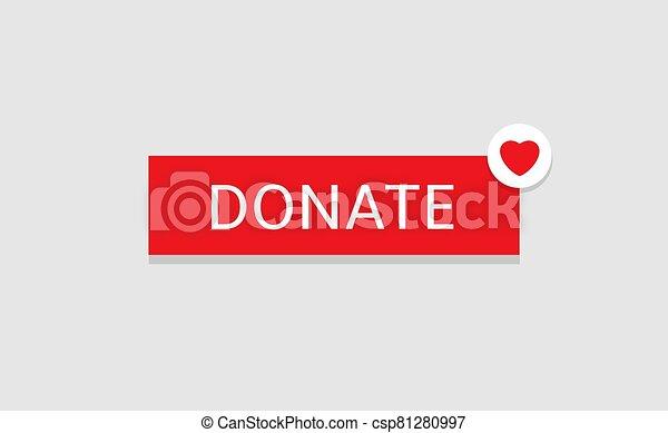 Donate button icon - csp81280997