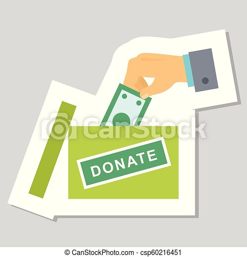 Donate buttons set. Help icon donation - csp60216451