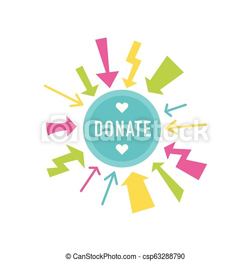 Donate buttons set. Help icon donation - csp63288790