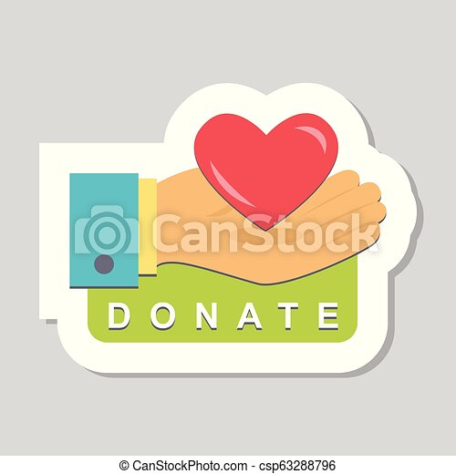 Donate buttons set. Help icon donation - csp63288796