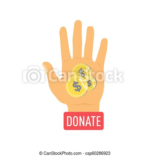Donate buttons set. Help icon donation - csp60286923