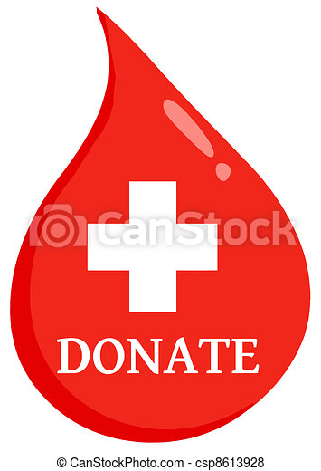 Donate First Aid Blood Drop - csp8613928