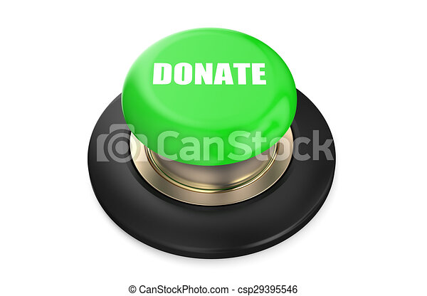 Donate green push-button - csp29395546