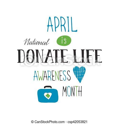 Donate Life awareness lettering - csp42053821