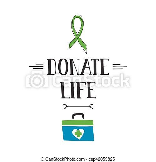 Donate Life awareness lettering - csp42053825