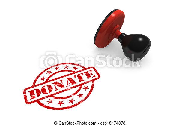 Donate Rubber Stamp - csp18474878