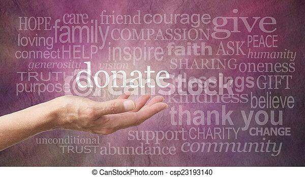 Donate Word Wall - csp23193140