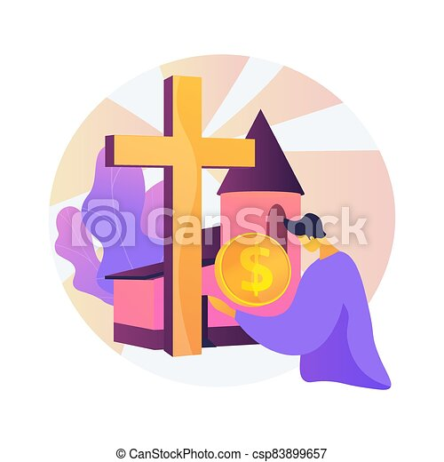 Donation abstract concept vector illustration. - csp83899657