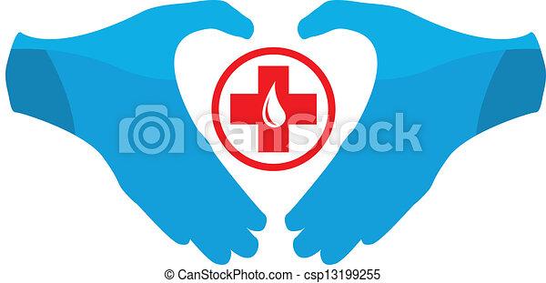 donation, emblème, sanguine, gabarit - csp13199255