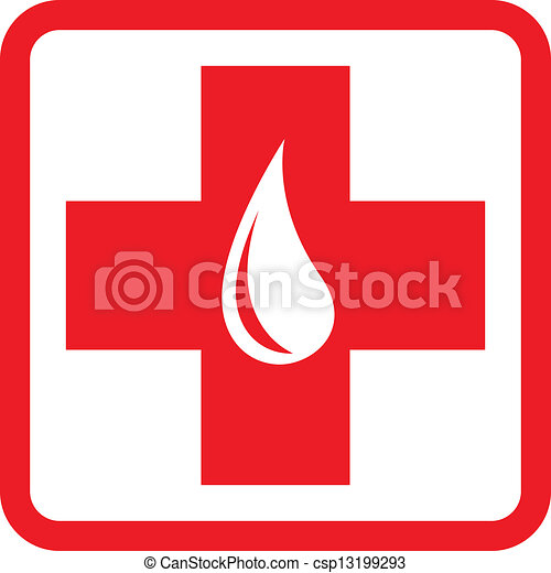 donation, emblème, sanguine, gabarit - csp13199293