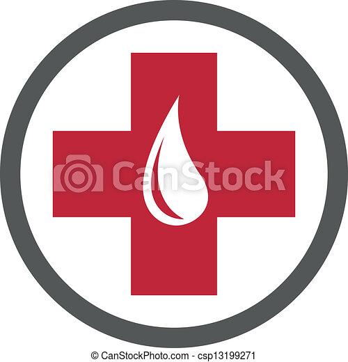 donation, emblème, sanguine, gabarit - csp13199271