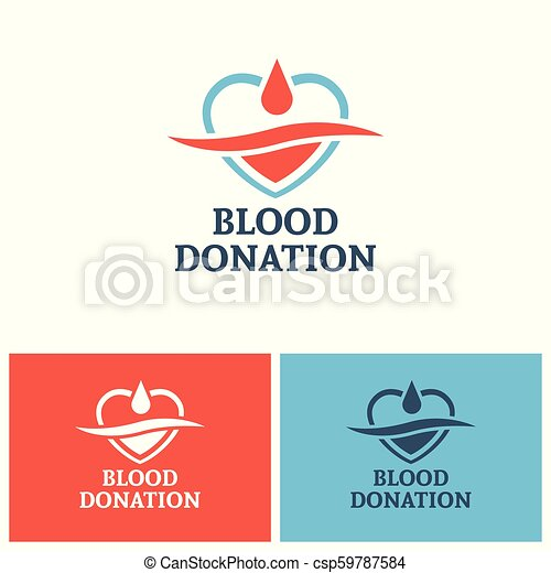 donation, vecteur, conception, sanguine, gabarit, logo - csp59787584
