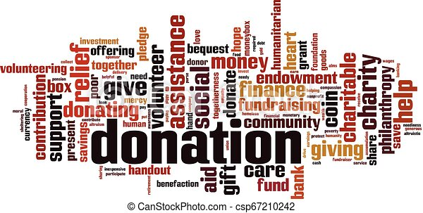 Donation word cloud - csp67210242