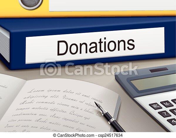 donations binders - csp24517634