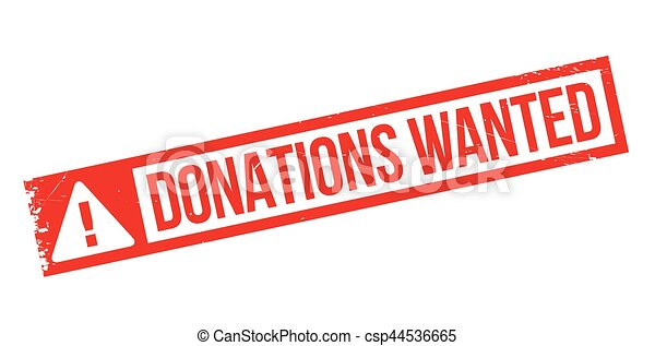 Donations Wanted rubber stamp - csp44536665
