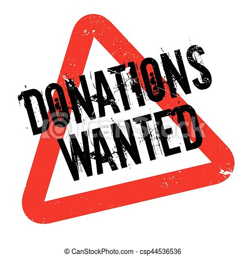Donations Wanted rubber stamp - csp44536536