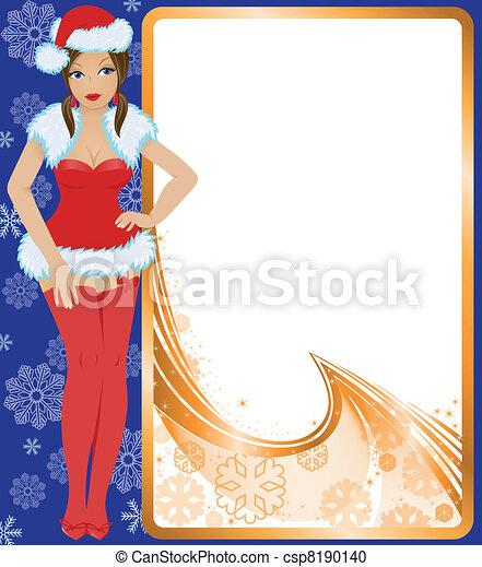 La doncella de la nieve en rojo - csp8190140