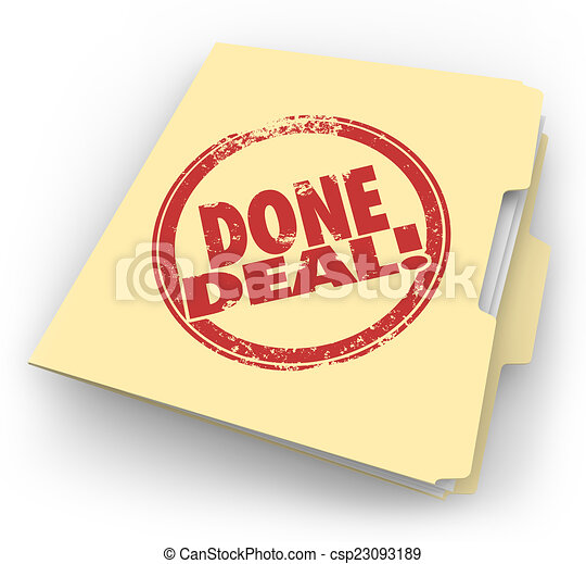 Done Deal Manila Folder Official Contract Signed Sale Closed - csp23093189