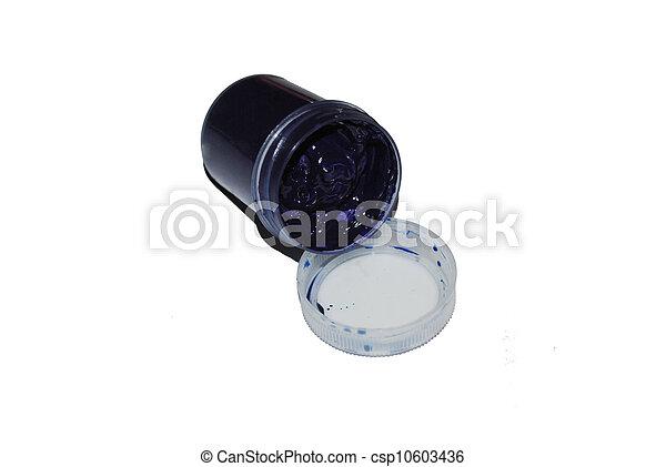 donker blauw, pot, verf  - csp10603436