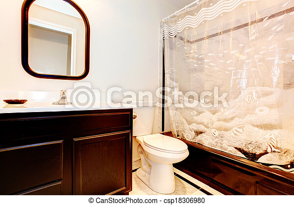 Donker, bruine , badkamer. Bruine , badkamer, gordijnen,... beelden ...