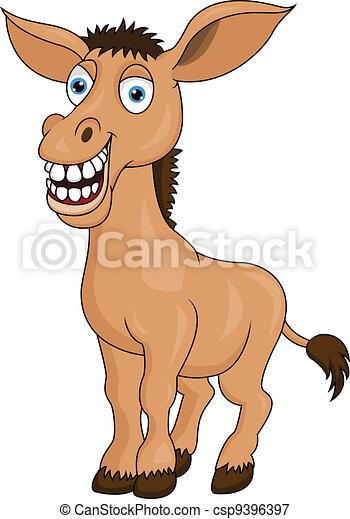 Donkey cartoon - csp9396397